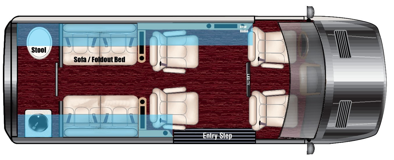 New 2020 Mercedes-Benz Sprinter 144 Metro DayLounge D6 Half Partition 2500 for sale Call for price at Iconic Sprinters in Fort Worth TX 76106 1
