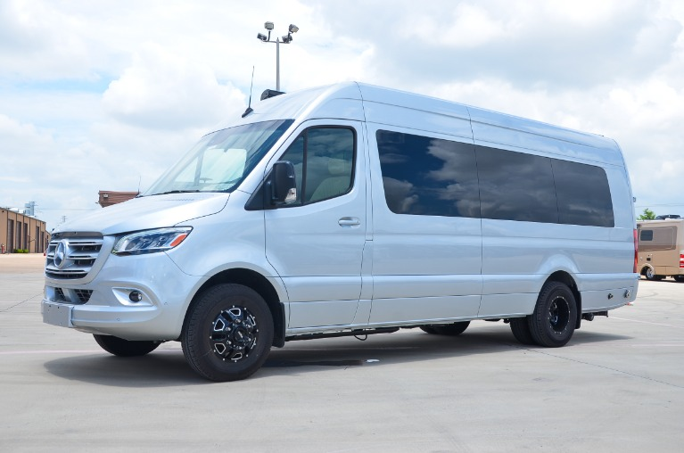 New 2021 Mercedes-Benz Sprinter 170E Family DayLounge Half Partition FD8 3500XD Dually for sale Call for price at Iconic Sprinters in Fort Worth TX 76106 3