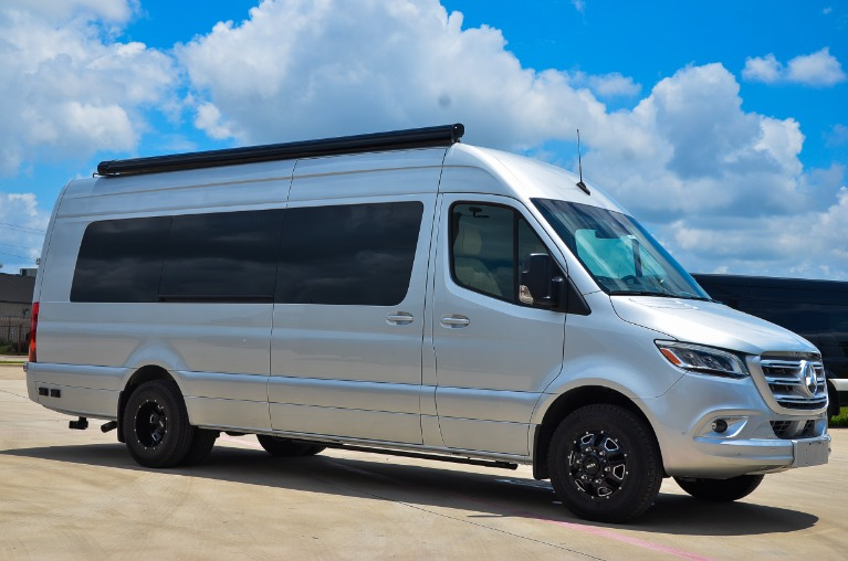 New 2021 Mercedes-Benz Sprinter 170E Family DayLounge Half Partition FD8 3500XD Dually for sale Call for price at Iconic Sprinters in Fort Worth TX 76106 4