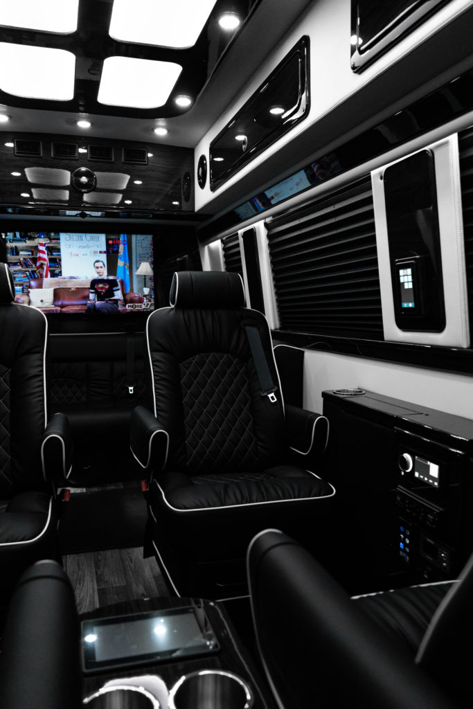 Interior View Mercedes-Benz Business Club J Luxury Sprinter Van - For Sale - Iconic Sprinters - Dallas Texas